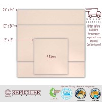 "Pre-Cut Pieces 12""x12"" Veg-Tanned, Natural , 7/9 Oz. (2.8-3.6 mm) for Tooling, Crafting and Wet Molding."